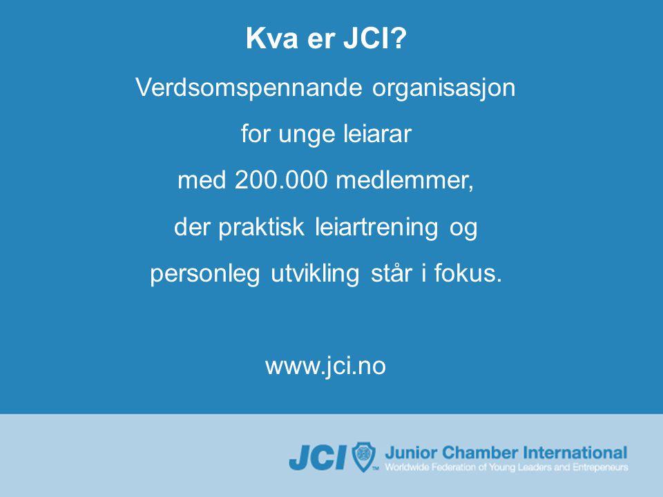 Kva er JCI TOYP utnemninga.Anerkjennelse Rollemodellar Open for alle unge mellom 18 og 40 år.