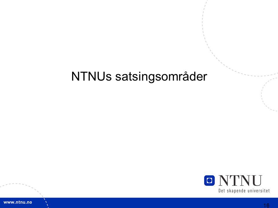 16 NTNUs satsingsområder
