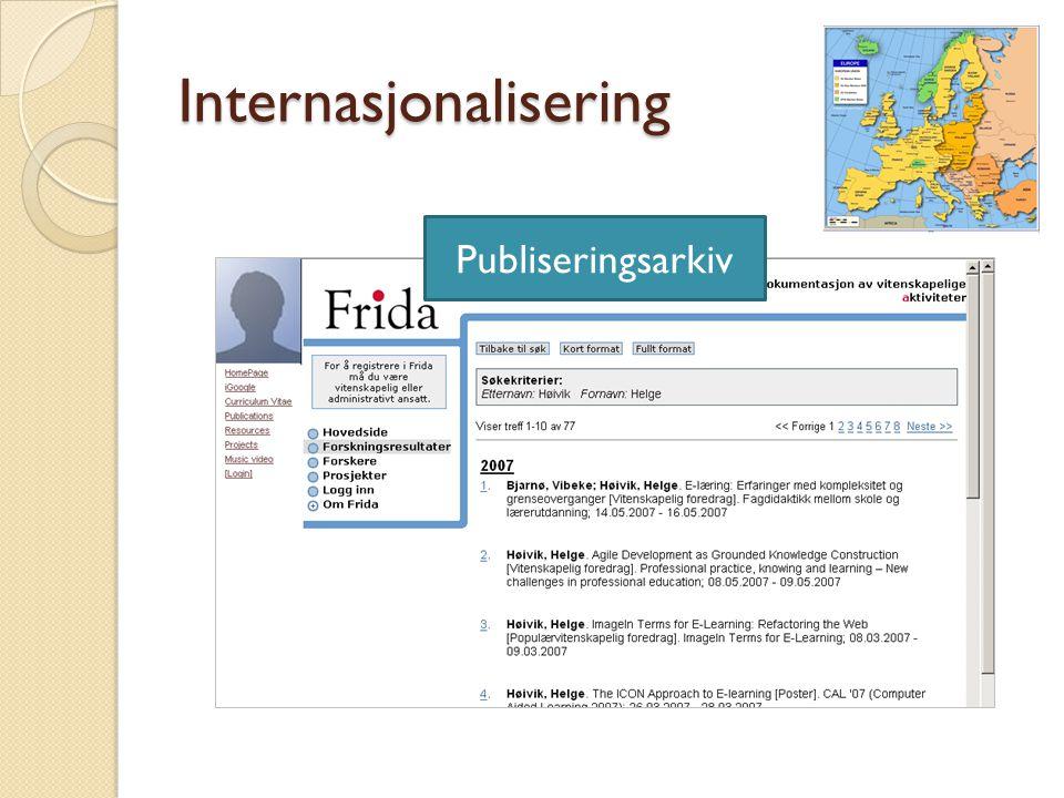 Internasjonalisering Publiseringsarkiv
