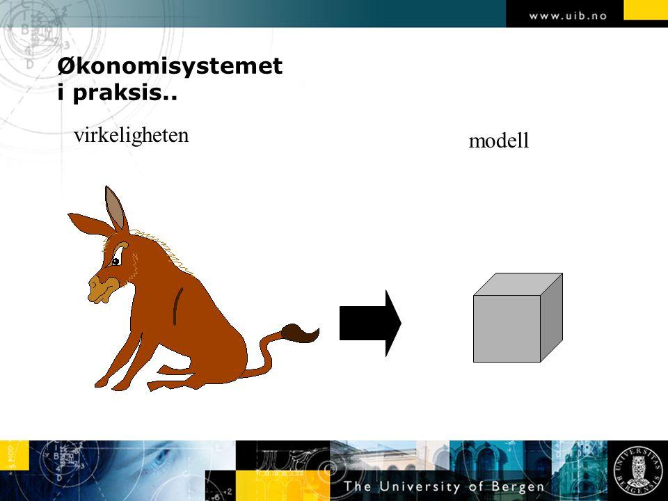 Økonomisystemet i praksis.. virkeligheten modell