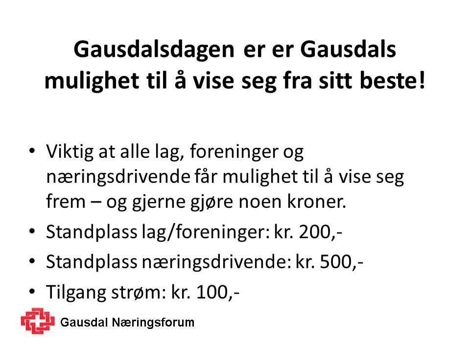 Gausdalsdagen er er Gausdals mulighet til å vise seg fra sitt beste.