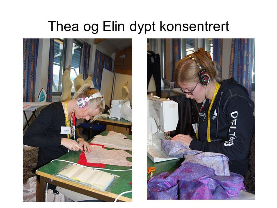 Thea og Elin dypt konsentrert
