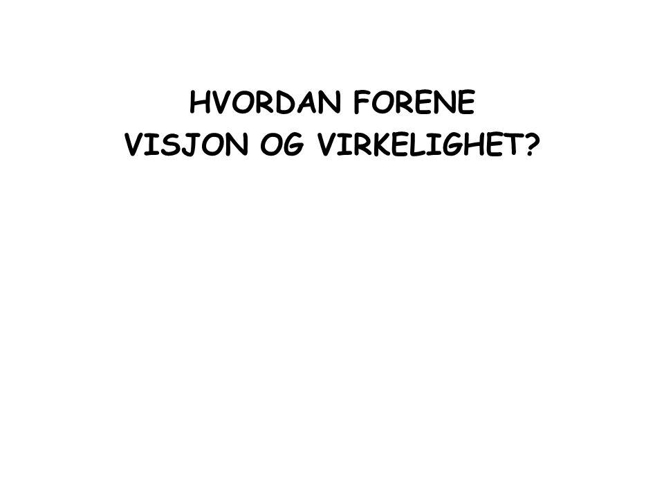 HVORDAN FORENE VISJON OG VIRKELIGHET