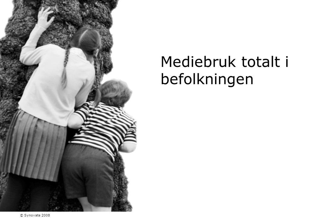 Mediebruk totalt i befolkningen © Synovate 2008