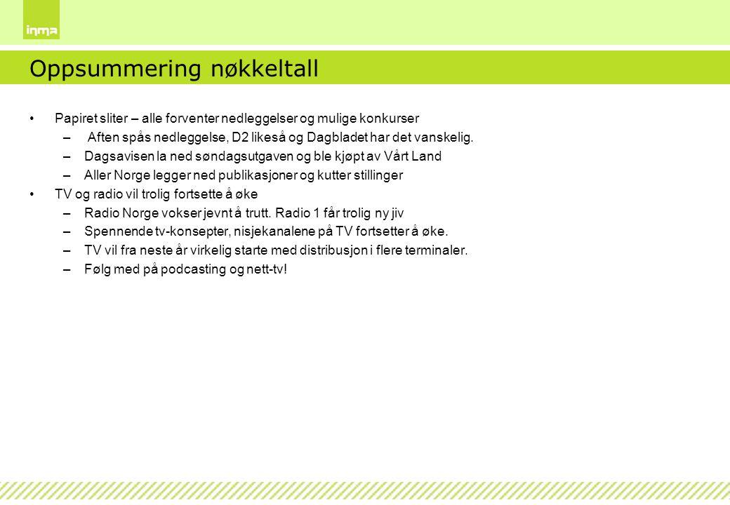 Medieutviklingen 1960 - 2007/2008 Kilde: Daglig oppslutning om avis, radio, fjernsyn, tekst-TV og Internett 1961-2007/2008.
