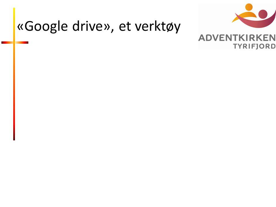 «Google drive», et verktøy