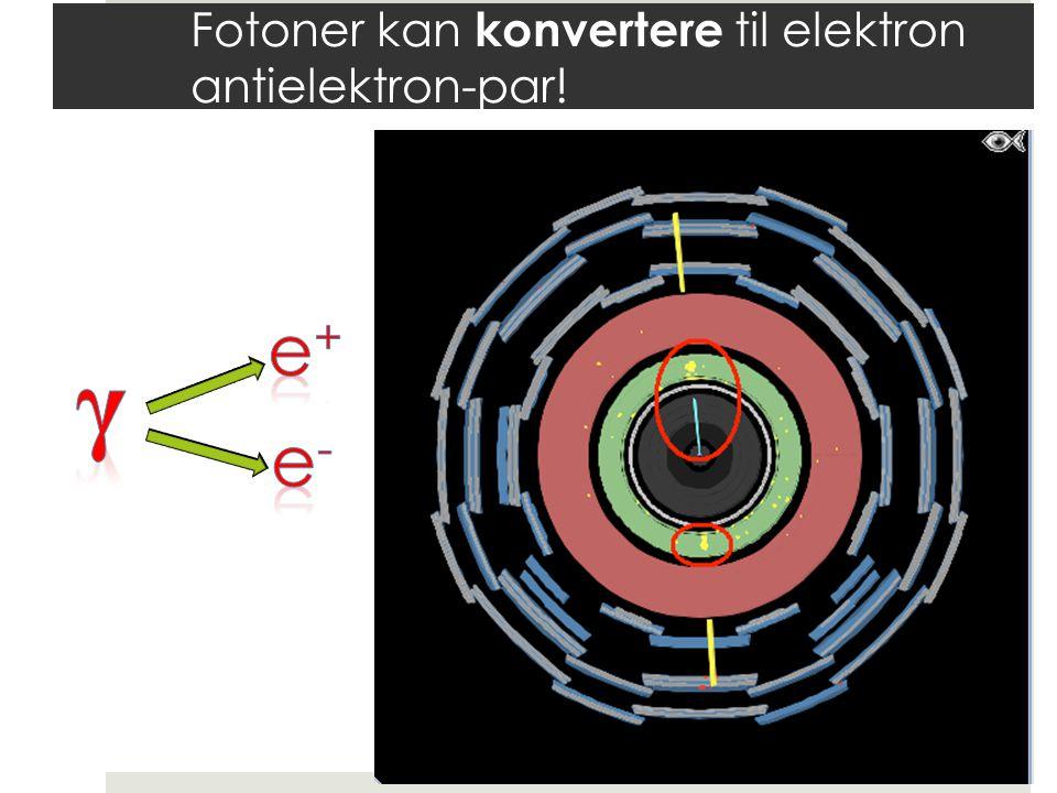 Fotoner kan konvertere til elektron antielektron-par!