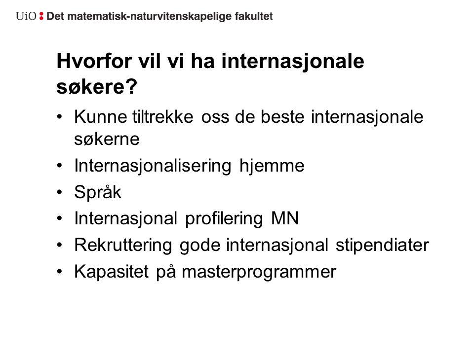 Hvorfor vil vi ha internasjonale søkere.