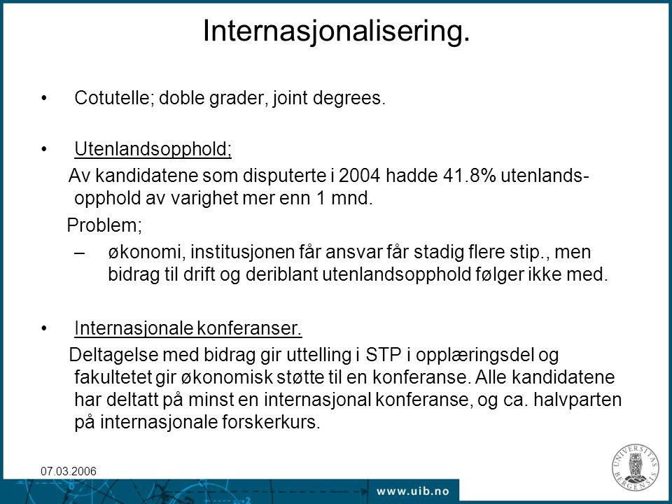 07.03.2006 Forskerskoler Stor diskusjon, A-B lag.
