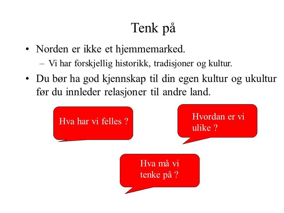 MAXBO Skolen LS # 1- 98 S 35 BRANSJENS BESTE OPPLÆRINGSPROGRAM Tenk på Norden er ikke et hjemmemarked. –Vi har forskjellig historikk, tradisjoner og k