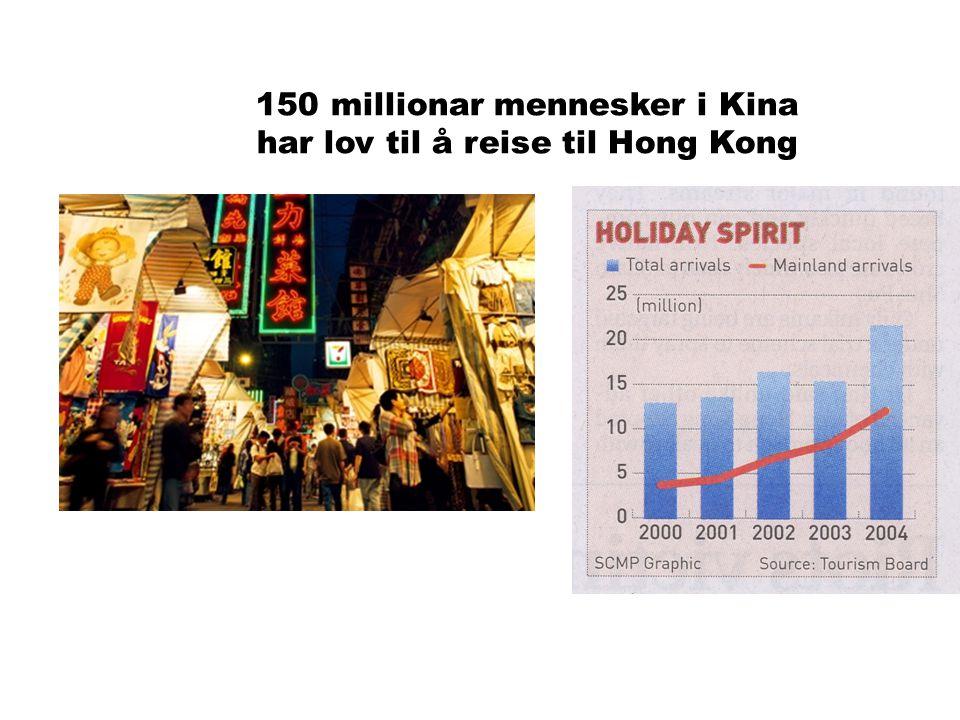 MAXBO Skolen LS # 1- 98 S 43 BRANSJENS BESTE OPPLÆRINGSPROGRAM 150 millionar mennesker i Kina har lov til å reise til Hong Kong