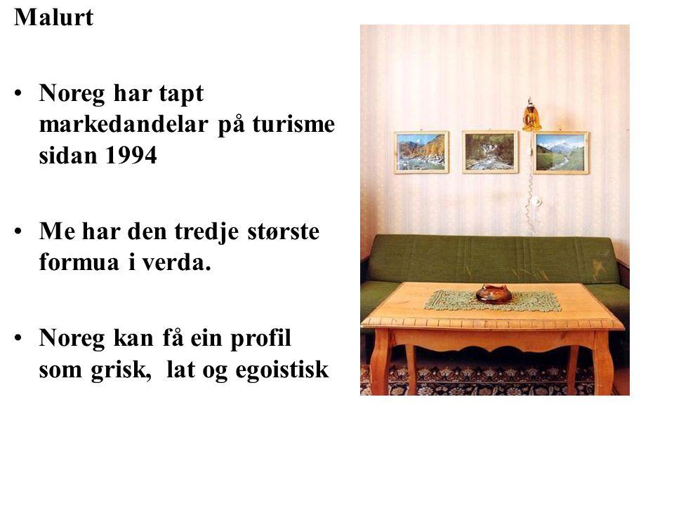 MAXBO Skolen LS # 1- 98 S 68 BRANSJENS BESTE OPPLÆRINGSPROGRAM Malurt Noreg har tapt markedandelar på turisme sidan 1994 Me har den tredje største formua i verda.