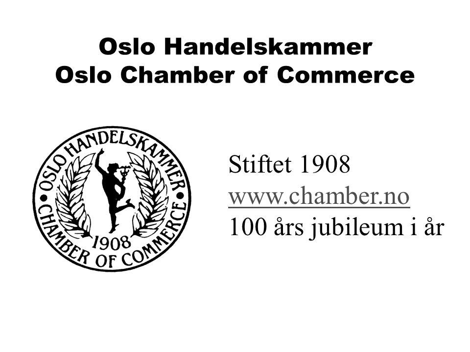 MAXBO Skolen LS # 1- 98 S 72 BRANSJENS BESTE OPPLÆRINGSPROGRAM Oslo Handelskammer Oslo Chamber of Commerce Stiftet 1908 www.chamber.no 100 års jubileu