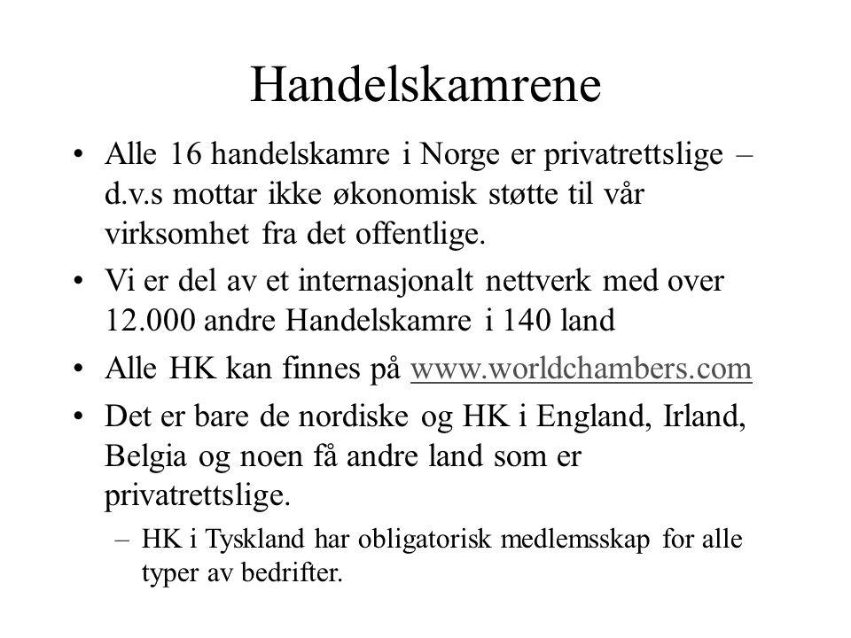 MAXBO Skolen LS # 1- 98 S 75 BRANSJENS BESTE OPPLÆRINGSPROGRAM Handelskamrene Alle 16 handelskamre i Norge er privatrettslige – d.v.s mottar ikke økon