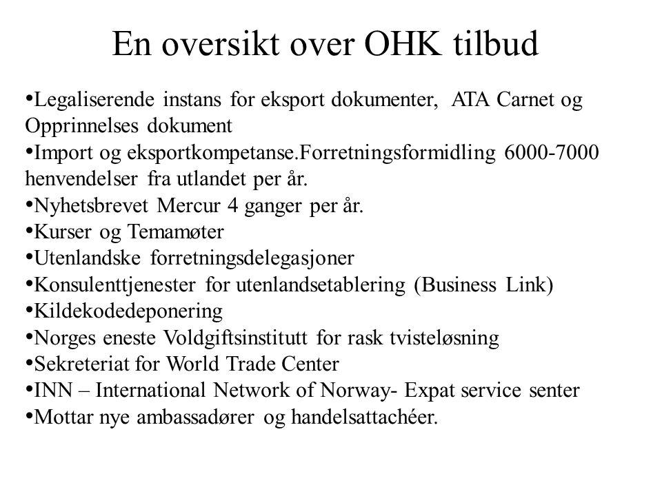 MAXBO Skolen LS # 1- 98 S 77 BRANSJENS BESTE OPPLÆRINGSPROGRAM En oversikt over OHK tilbud Legaliserende instans for eksport dokumenter, ATA Carnet og