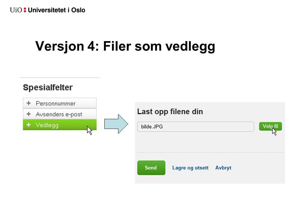 Versjon 4: Filer som vedlegg