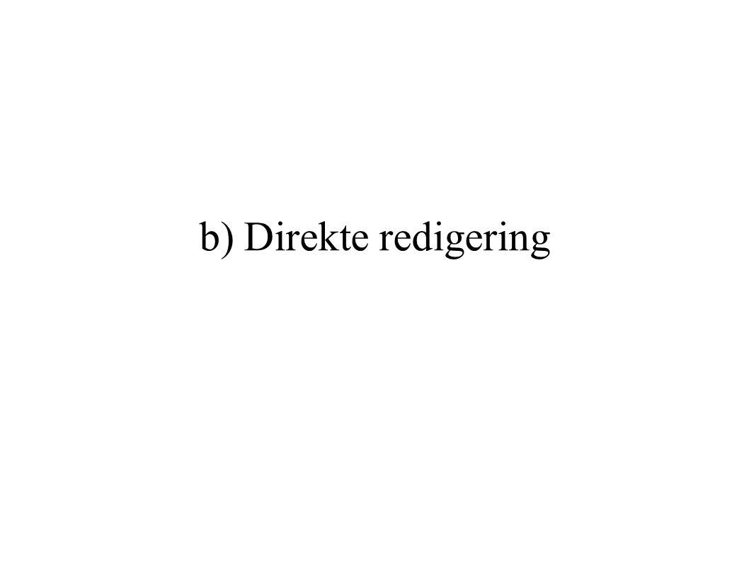 b) Direkte redigering