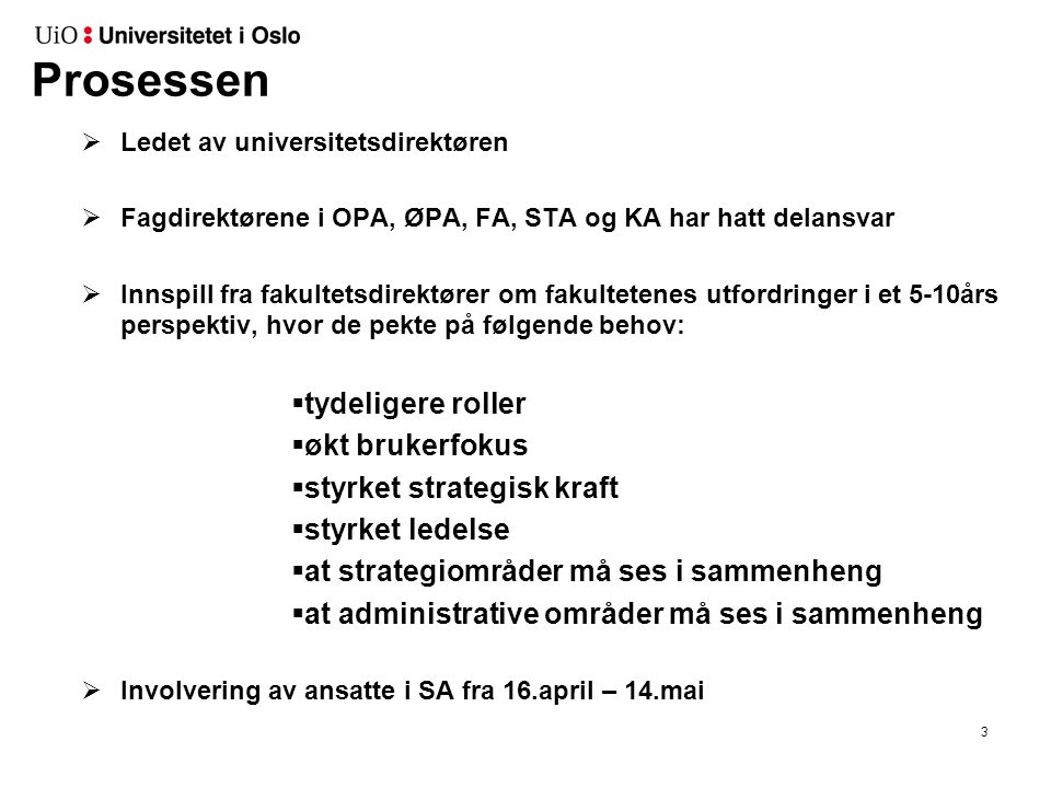 Involvering av ansatte: 16.april – 14.