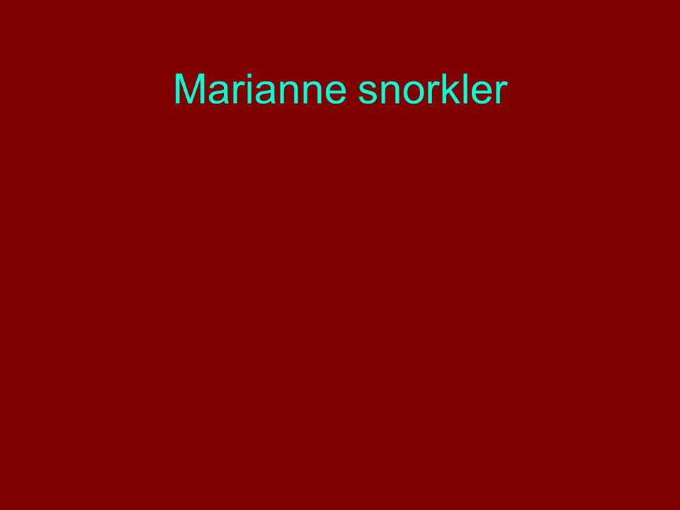 Marianne snorkler