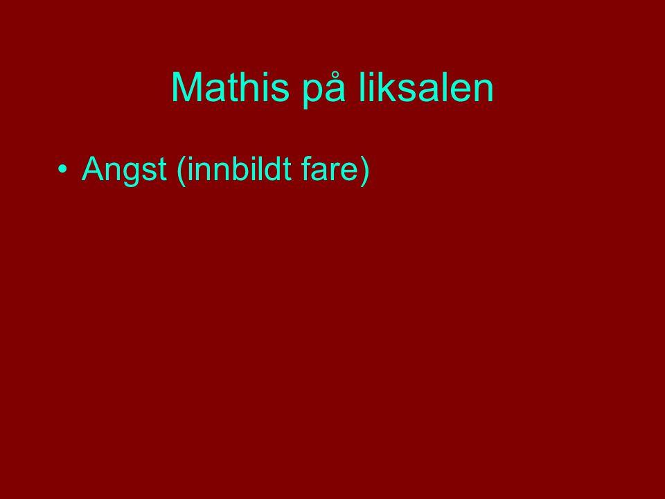 Mathis på liksalen Angst (innbildt fare)