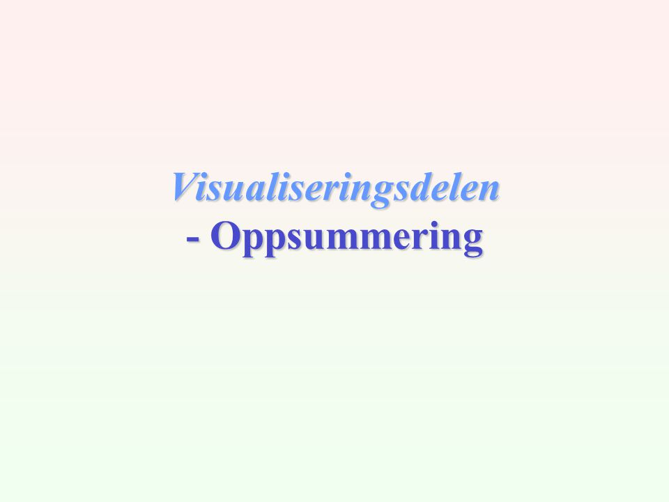 Visualiseringsdelen - Oppsummering