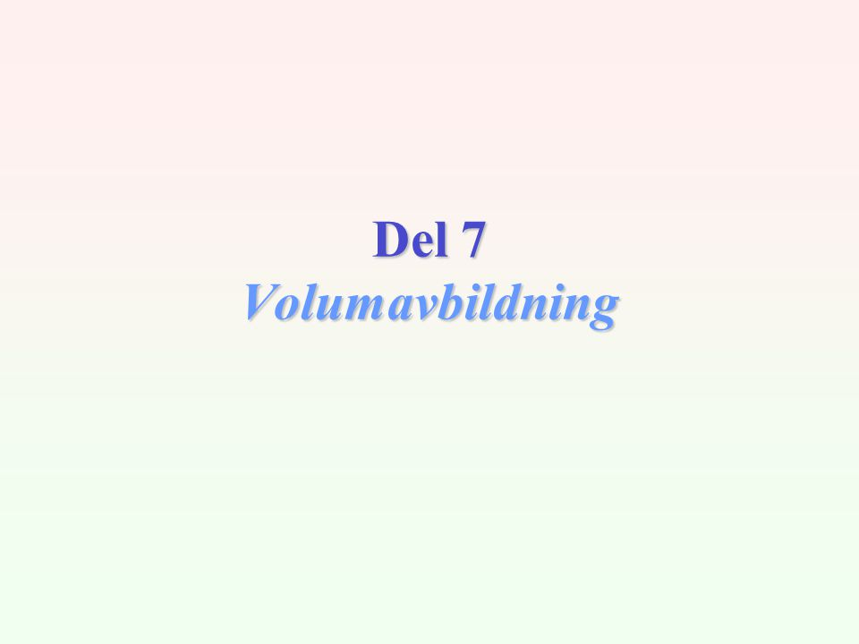 INF2340 / V042 Klassifikasjon Volumvisualisering FlateavbildningVolumavbildning Isoflater Snittplan visualisering av volumetrisk (3D) skalarfelt...