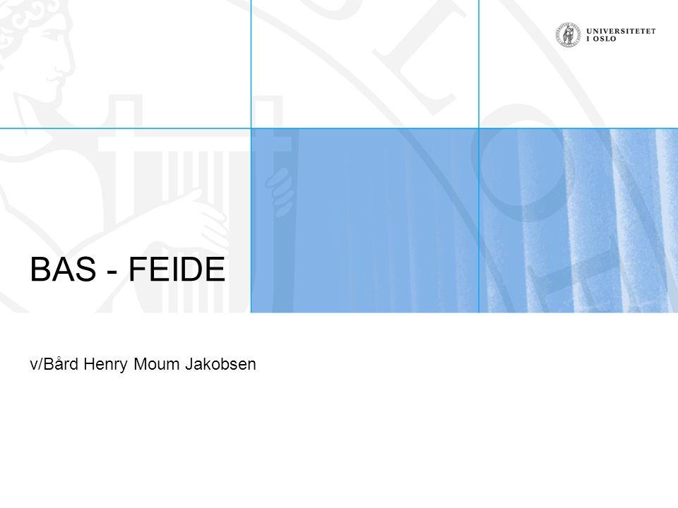 BAS - FEIDE v/Bård Henry Moum Jakobsen