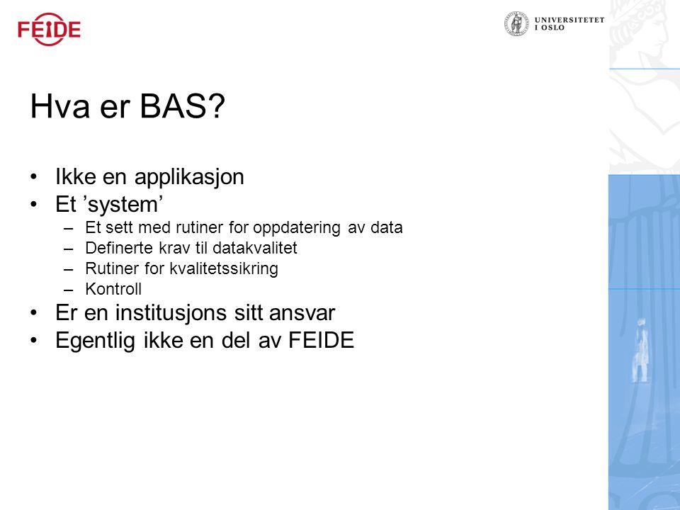 Hva er BAS.