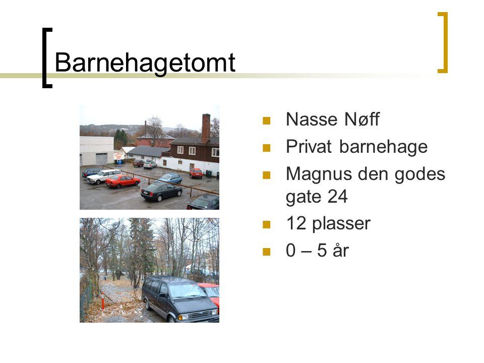Barnehagetomt Nasse Nøff Privat barnehage Magnus den godes gate 24 12 plasser 0 – 5 år