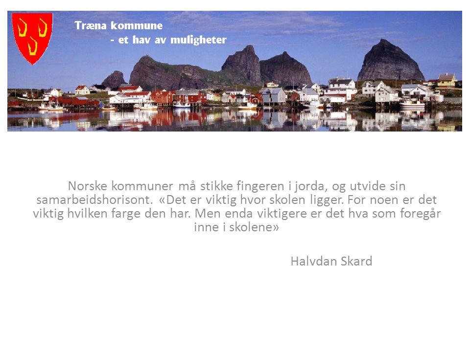 Norske kommuner må stikke fingeren i jorda, og utvide sin samarbeidshorisont. «Det er viktig hvor skolen ligger. For noen er det viktig hvilken farge