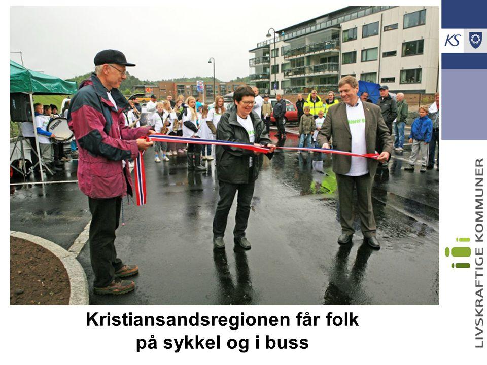 Kristiansandsregionen får folk på sykkel og i buss