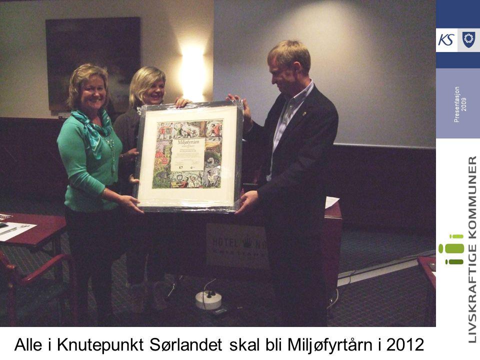 Presentasjon 2009 Alle i Knutepunkt Sørlandet skal bli Miljøfyrtårn i 2012