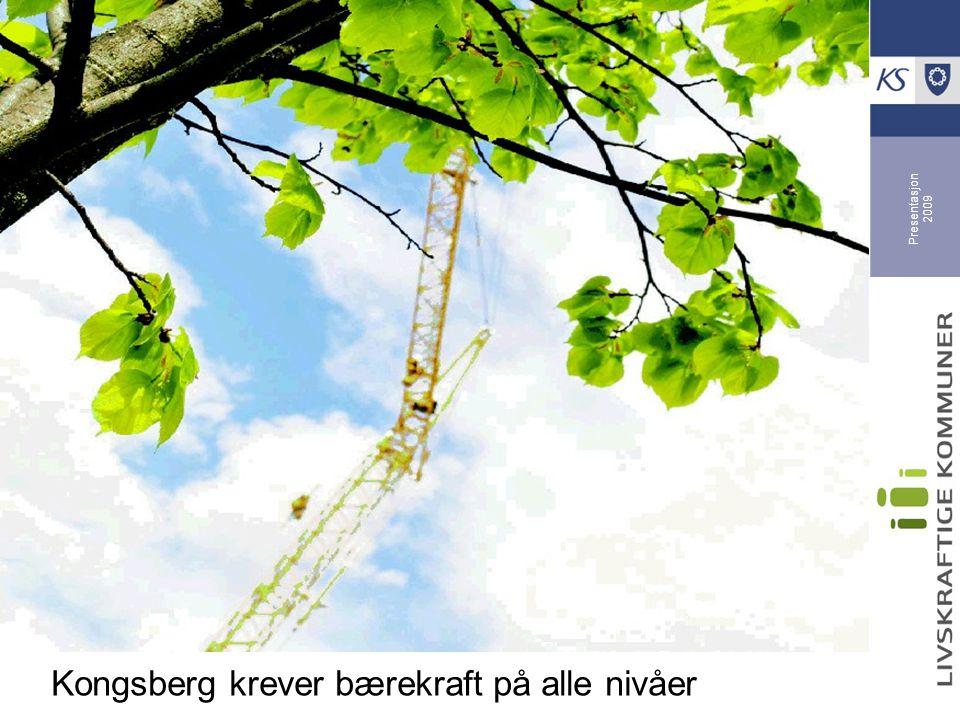 Presentasjon 2009 Kongsberg krever bærekraft på alle nivåer