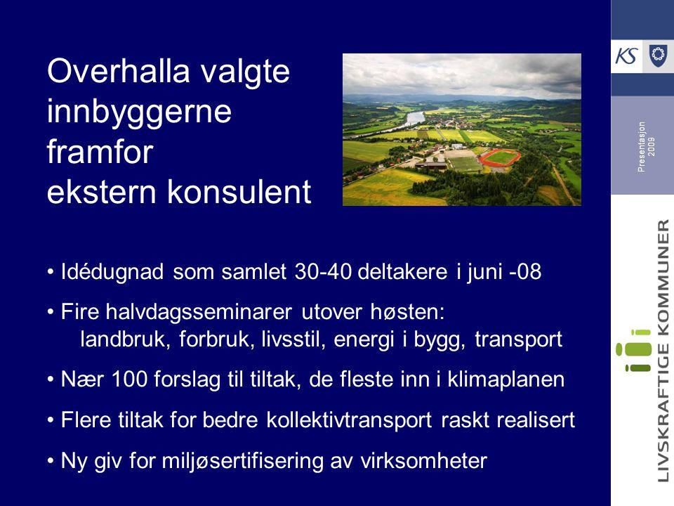 Presentasjon 2009 Grønt miljøsenter i Ålesund inspirer unge til handling