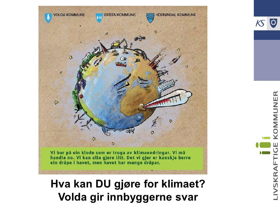 Hva kan DU gjøre for klimaet Volda gir innbyggerne svar