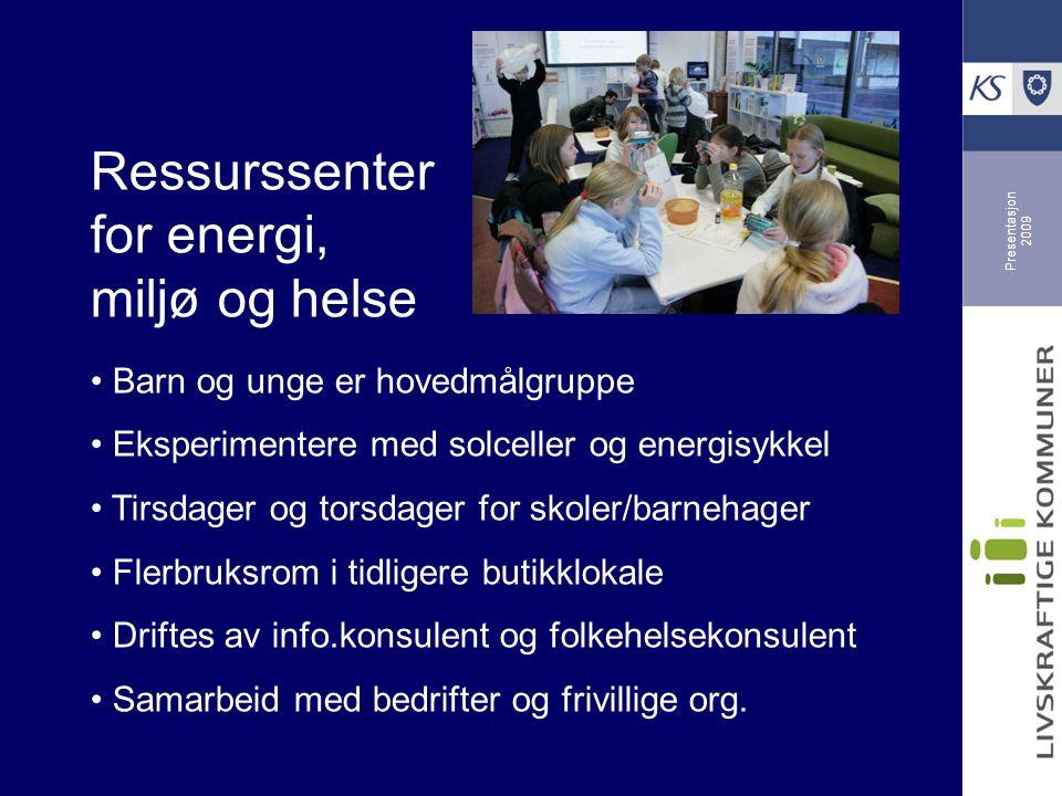 Presentasjon 2009 Namsos: energieffektiv kommune vil bli enda bedre