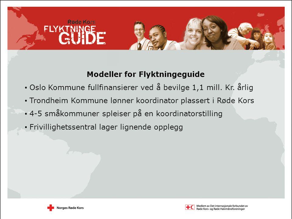 Modeller for Flyktningeguide Oslo Kommune fullfinansierer ved å bevilge 1,1 mill.