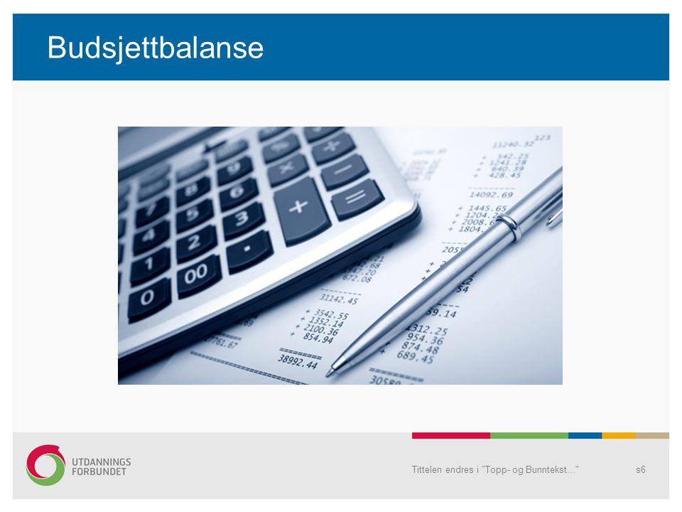 Handlingsplanar/ tiltaksplanar Mål/ tiltak (inntekter) Tid til disposisjon (utgifter) Tittelen endres i Topp- og Bunntekst... s7