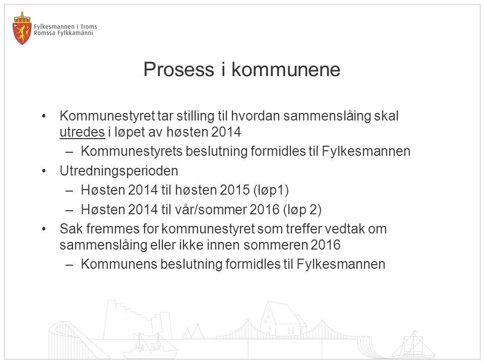 Prosessvirkemidler Standardiserte faktaoppsett skal utarbeides av KMD.