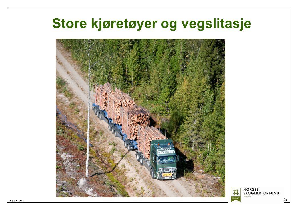 Store kjøretøyer og vegslitasje 16 02.09.2014