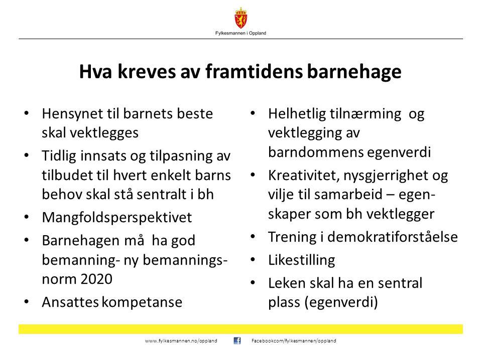 www.fylkesmannen.no/opplandFacebookcom/fylkesmannen/oppland Kompetansestrategi 2014 - 2020 Danning og kulturelt mangfold Et godt språkmiljø for alle barn Barn med særskilte behov Pedagogisk ledelse