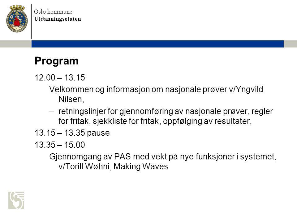 Oslo kommune Utdanningsetaten Nytt rundskriv om individuell vurdering Rundskriv Udir-1-2010 med informasjon om individuell vurdering i grunnskolen og videregående opplæring.