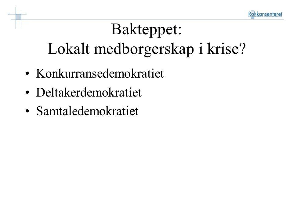 Bakteppet: Lokalt medborgerskap i krise.
