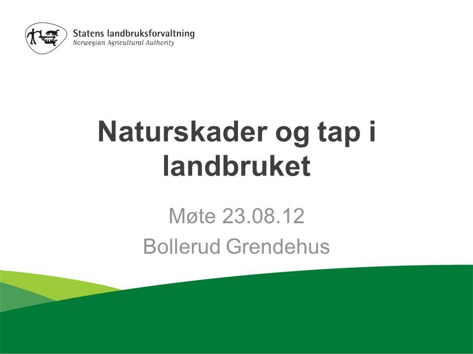 Naturskader og tap i landbruket Møte 23.08.12 Bollerud Grendehus