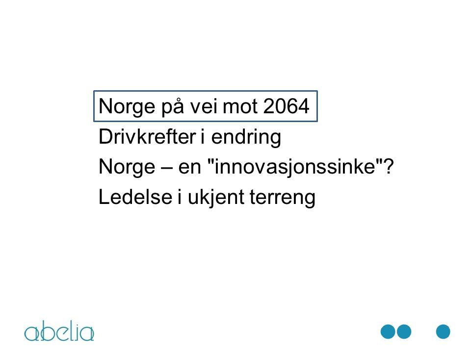 Norge på vei mot 2064 Drivkrefter i endring Norge – en