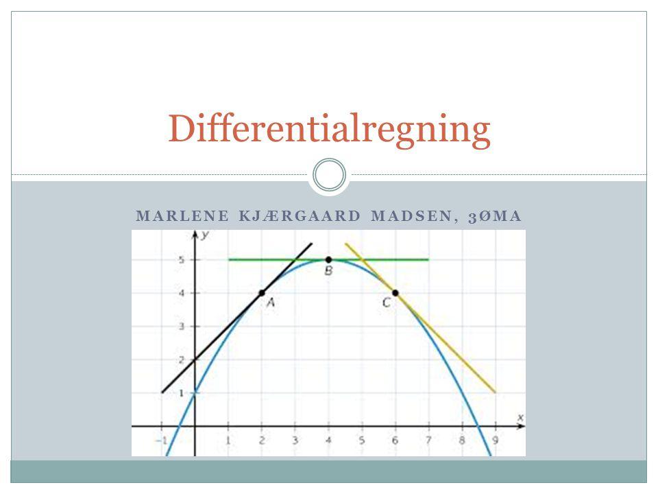 Disposition Afledt funktion - f' Sekant og tangent.