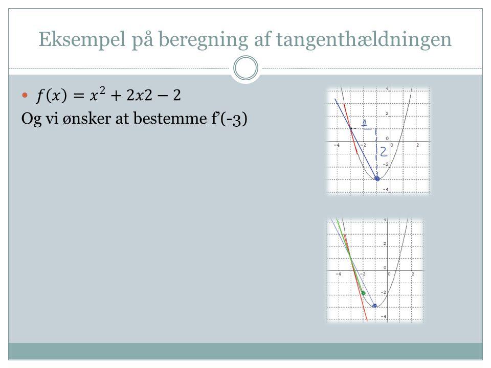 Eksempel på beregning af tangenthældningen