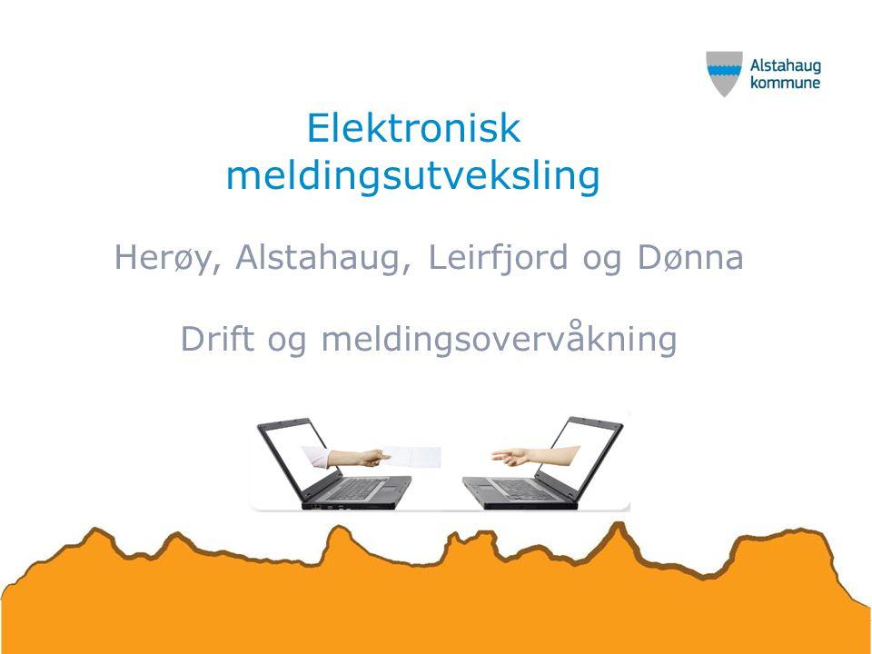 Elektronisk meldingsutveksling Herøy, Alstahaug, Leirfjord og Dønna Drift og meldingsovervåkning
