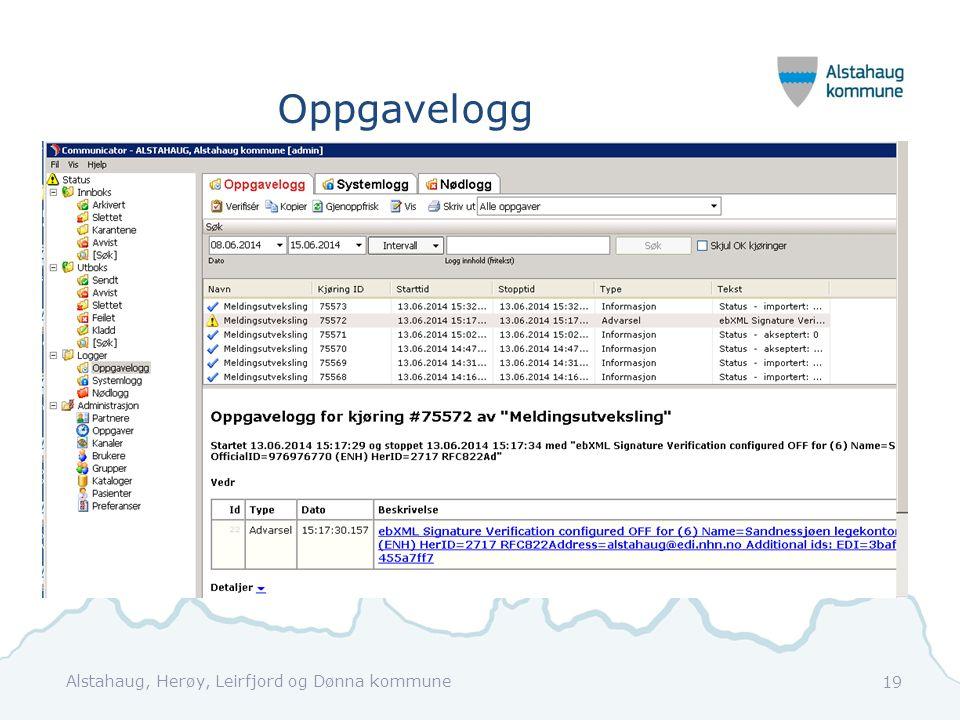 Oppgavelogg Alstahaug, Herøy, Leirfjord og Dønna kommune 19
