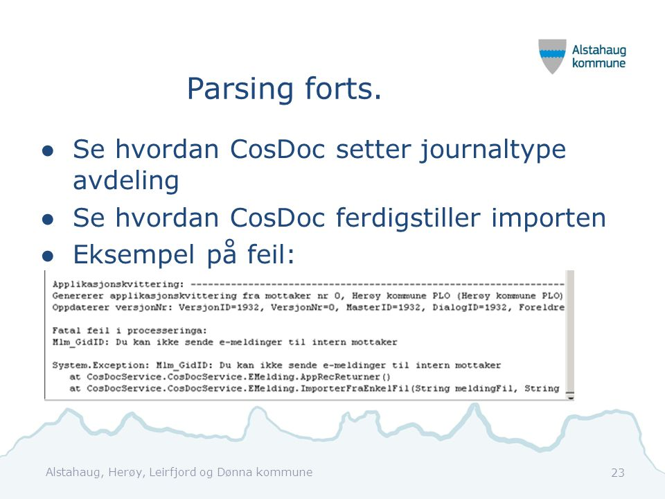 Parsing forts.